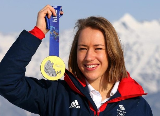 Golden girl Lizzy Yarnold (Picture: Getty Images)