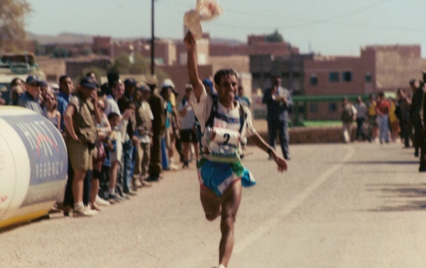 MDS Ahansal running into finish