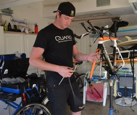 The team mechanics have their work cut out for them to prepare all of the team bikes for the season